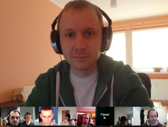 WPML team during a video conference
