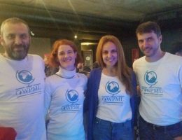 Part of OnTheGoSystems team at thw WordCamp: Otto, Mercedes. Laura and Pierre